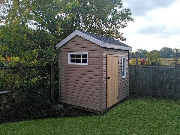 6x8 mini Shed, wood door
