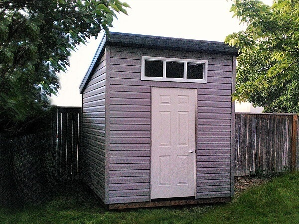 8x10-Modern Shed, large window, steel door - Summit Sheds, Ottawa