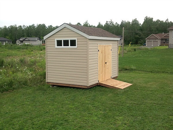 8x12 storage Shed with barn doors and ramp