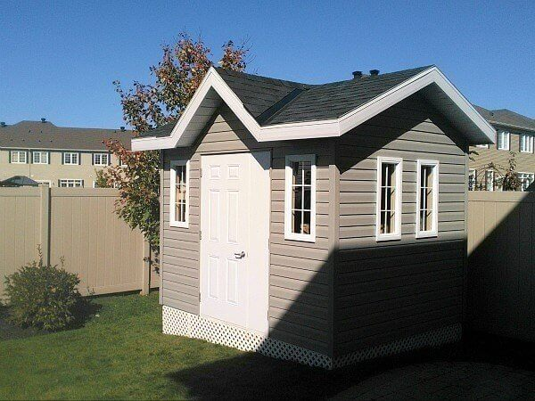 8x12-Victorian Shed, door and a half, soffits and overhang, additional windows - Summit Sheds, Ottawa