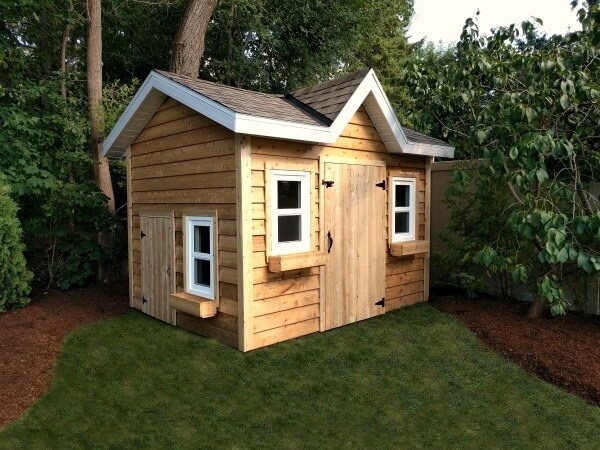 8x12 Victorian Shed, western red cedar, soffits and overhang - Summit Sheds, Ottawa