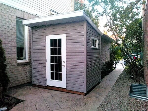 8x6-Modern Shed, french door, white accents - Summit Sheds, Ottawa Ontario