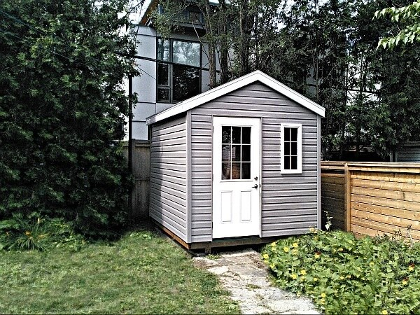 8x8 Gable shed with 1/2 Light door, Summit Sheds, Ottawa