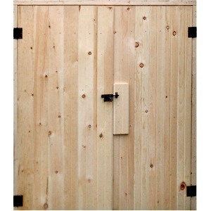 Double Wooden Shed Doors