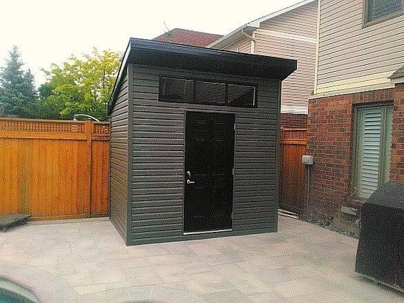Black-Modern shed Summit Sheds