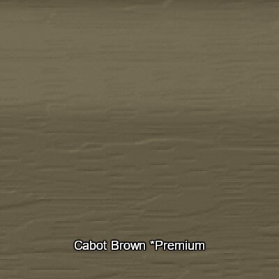 Cabot Brown Vinyl siding Colour
