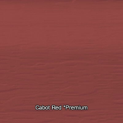 Cabot Red Vinyl Siding Colour