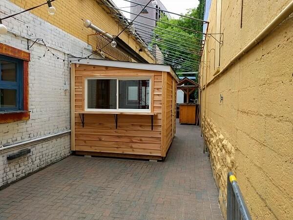 Cedar bar shed, large serving windows and bar - Summit Sheds, Ottawa