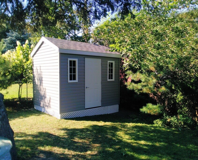 8x12 Classic Shed with steel door, Ottawa's Shed Company, Sheds Ottawa