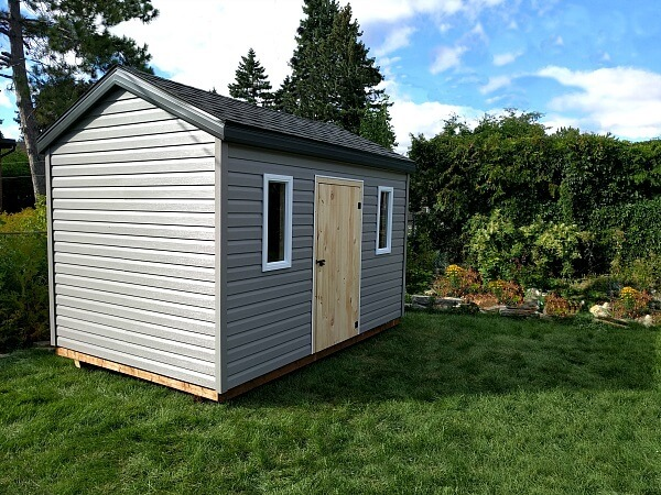 8x12 wood Shed, wood door