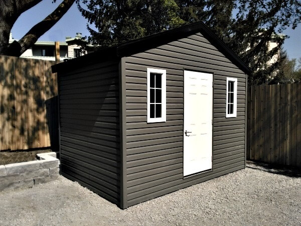8x12 Gable Shed with premium siding, Summit Sheds, Ottawa