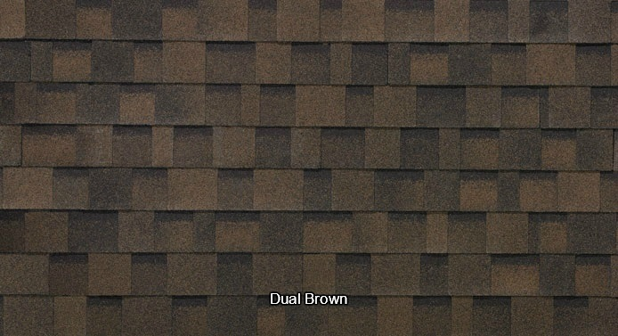Dual Brown Shed Shingles