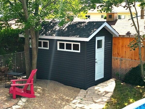 8x12 Gable shed Ottawa. Custom shed. Shed Designs, Large Sheds, Wood Sheds, Outdoor Storage