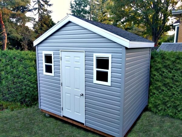 10x8 Gable shed, operating windows, Summit Sheds, Ottawa