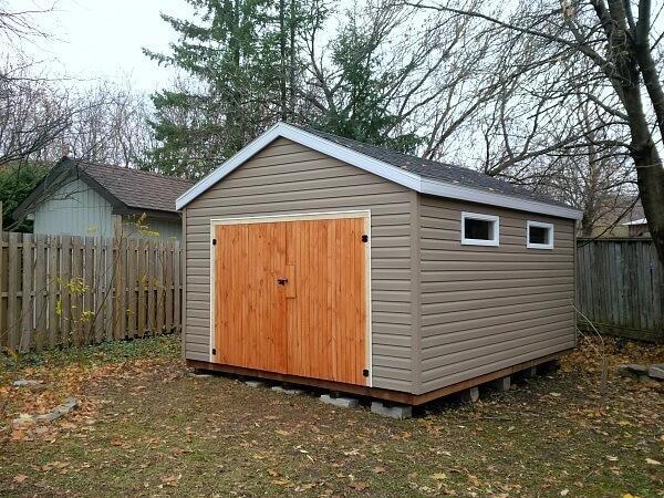 Summit Sheds, Ottawa - Large gable shed with barn doors