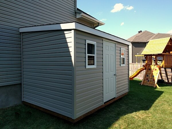 8x12 lean-to with low slope roof - Summit Sheds, Ottawa