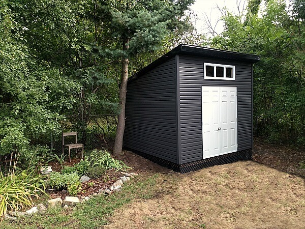 10x10 Modern Shed, double doors, black accents, contemporary shed - Summit Sheds, Ottawa