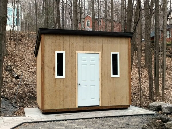 8x12 Modern Shed with LP smart siding - Summit Sheds, Ottawa