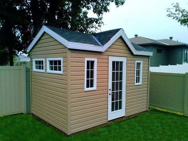 8x12 Victorian garden shed, french door, additional grilled windows - Summit Sheds, Ottawa