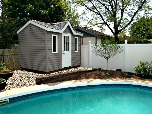 8x10 Victorian Pool Shed, 1/2 light door - Summit Sheds, Ottawa