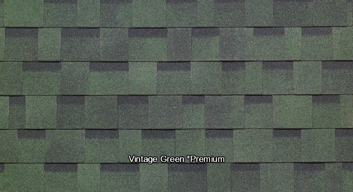 Vintage Green Shed Shingles