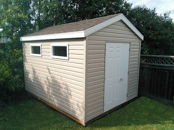 Summit Sheds, Ottawa - 8x12 gable garden shed with a door and a half