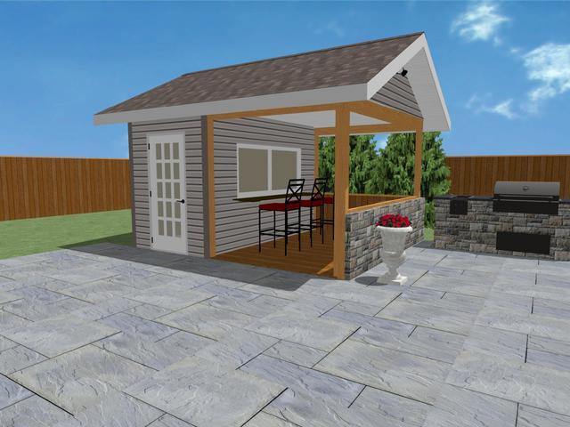 Pool Sheds, Ottawa Sheds, Shed Designs, 3D Sheds