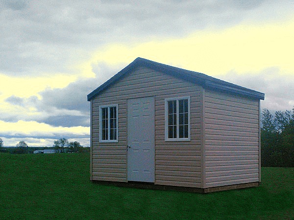 12x8 gable garden shed, double wide windows and steel door, Summit Sheds, Ottawa