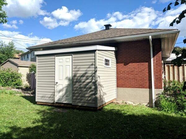 8x12 lean-to shed, spacesaver, space saver shed, Ottawa - Summit Sheds