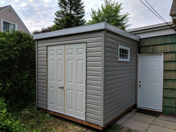 8x12 lean-to shed, space saver shed, double doors - Summit Sheds, Ottawa