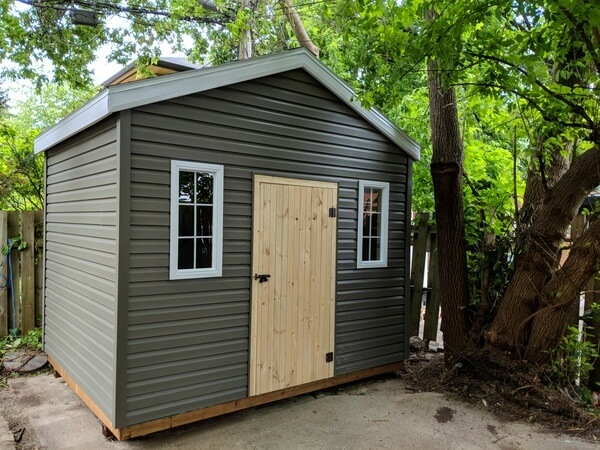 10x8 gable shed with premium siding, Summit Sheds, Ottawa Ontario