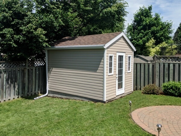 9x12 gable shed on concrete base, french door - Summit Sheds, Ottawa