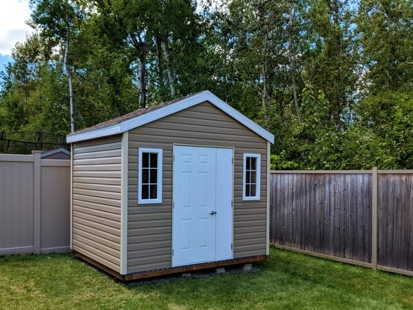 gable shed, 8x10, door and a half, Summit Sheds, Ottawa Ontario