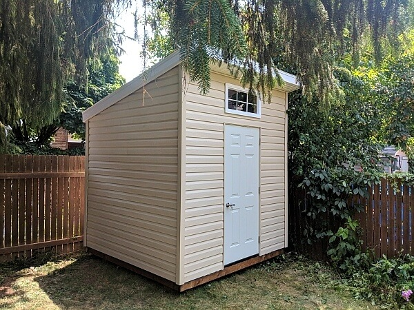 8x8 modern shed, contemporary shed, steel door - Summit Sheds, Ottawa