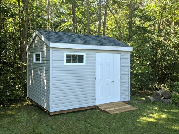 8x12 classic shed, door and half, ramp - Summit Sheds, Ottawa