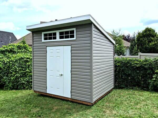 8x10 modern shed, door and a half, 2 windows - Summit Sheds, Ottawa Ontario