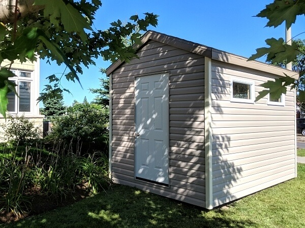 Gable shed, 8x12 with steel door, - Summit Sheds, Ottawa Ontairo
