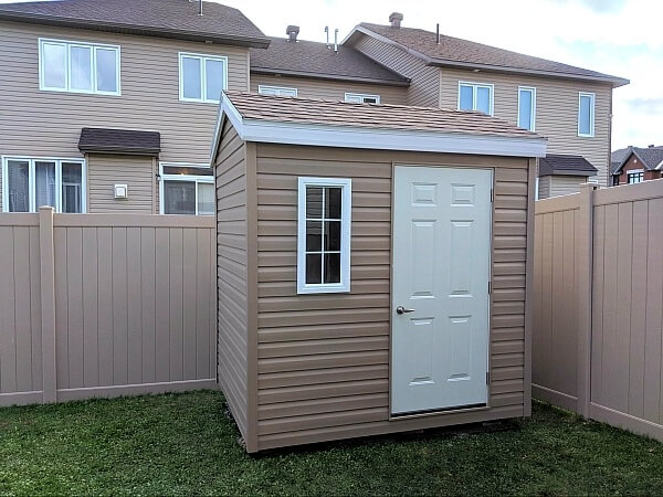 8x8 small Shed with steel door - Summit Sheds, Ottawa