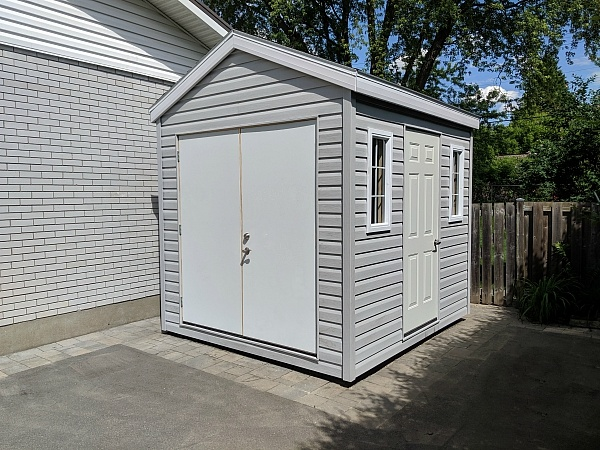 8x12 yard storage with single and double steel doors
