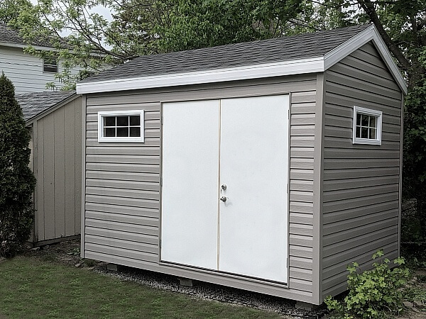 9x12 with double steel doors