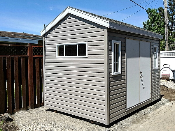 9x12 wood shed, double steel doors, large transom window - Summit Sheds, Ottawa