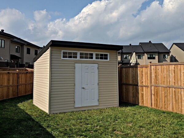 Summit Sheds, Ottawa - 9x12 Modern shed 3 transom windows, door and a half