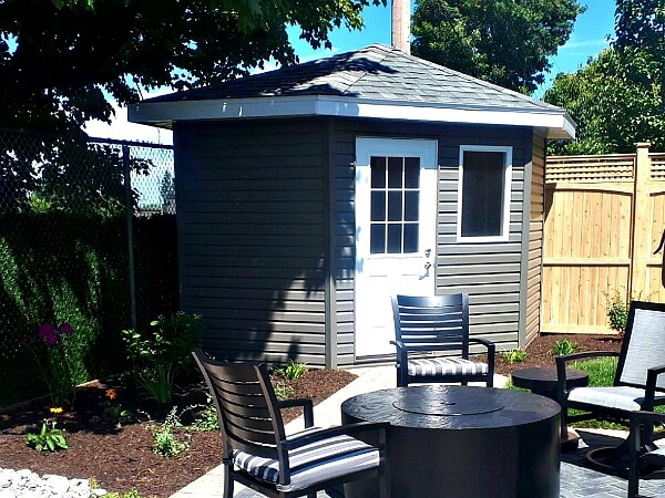 5-sided shed