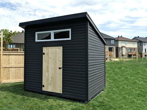 8x10 Modern Shed, wood door, premium vinyl siding - Summit Sheds, Ottawa