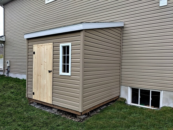 8x10 lean-to shed, space saver shed, wood door - Summit Sheds, Ottawa