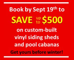 fall shed sale